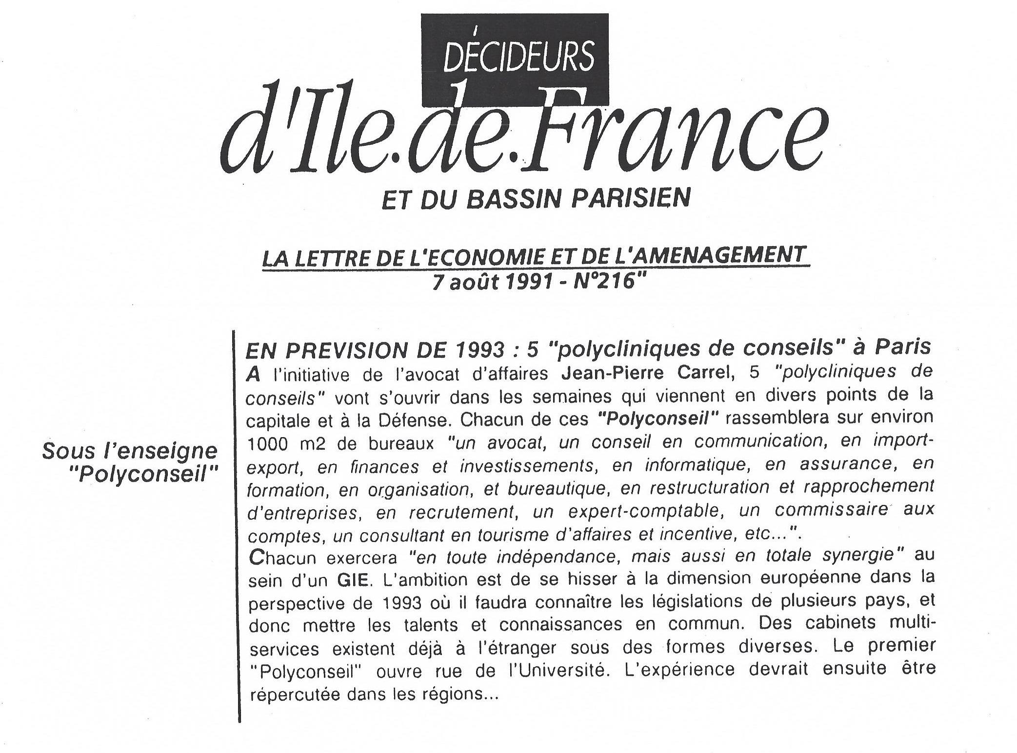 Décideurs d'Ile-De-France et du bassin parisien