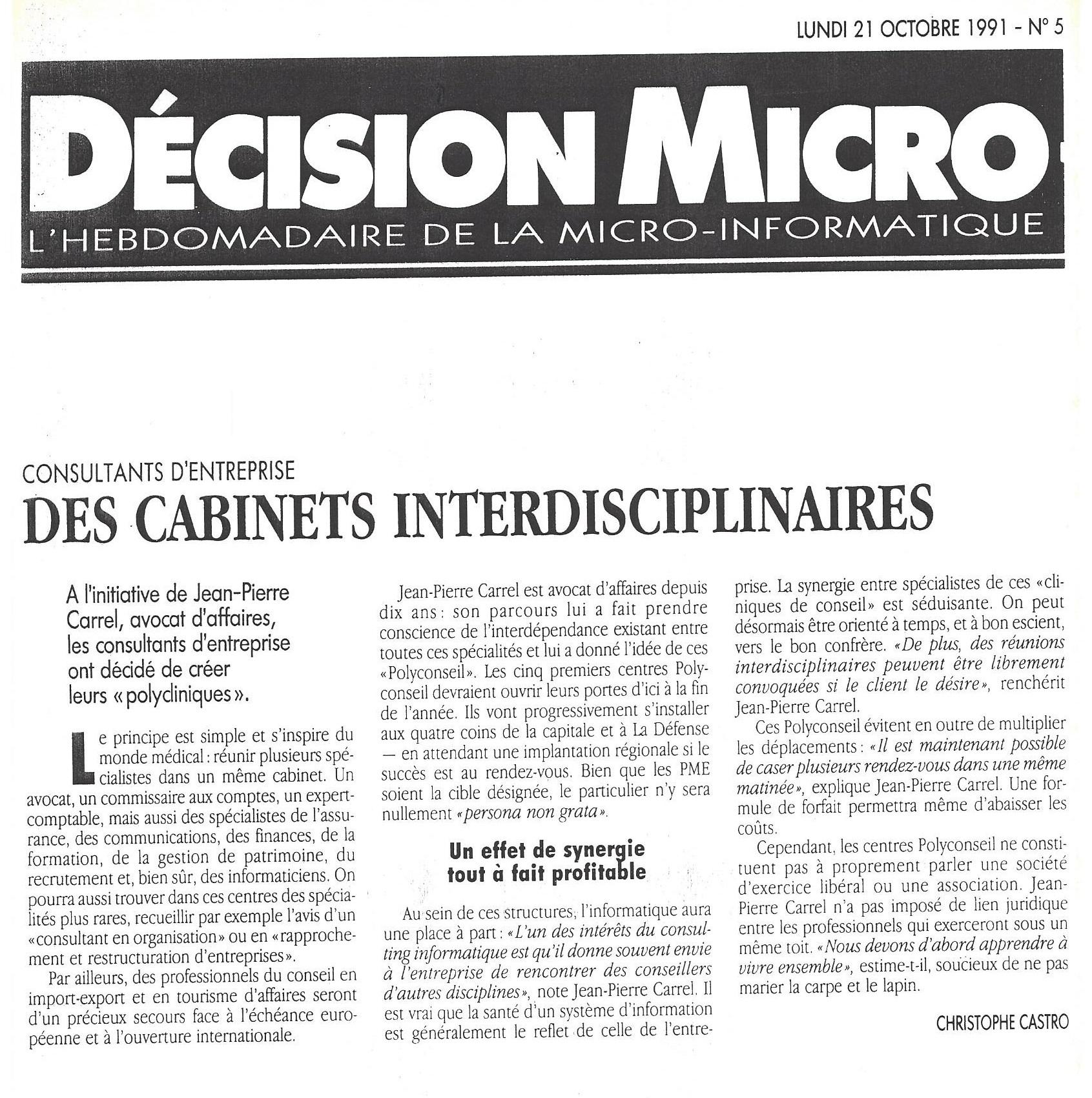 Décision Micro
